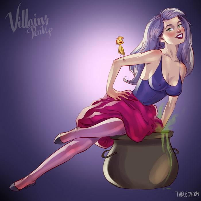 """Madame Mim, aquela que perseguiu o mago Merlin e seu aprendiz Artur em """"A Espada Era a Lei"""""""