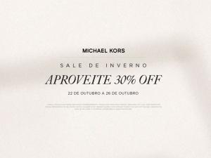 Michael Kors entra em super sale no shopping Cidade Jardim