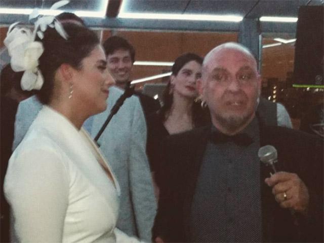 Marha e João durante a cerimônia nesse sábado  ||  Créditos: Reprodução Instagram