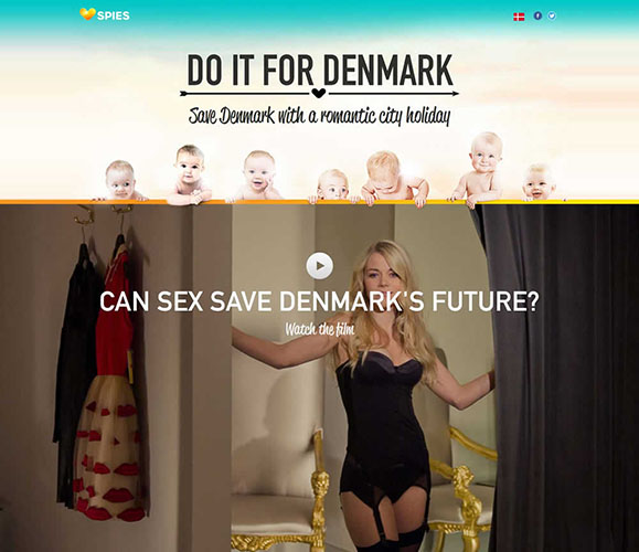 Imagem da campanha na Dinamarca ||  Créditos: Reprodução