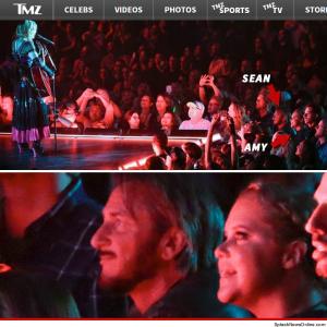 Sean Penn assiste show de Madonna no Canadá na pista