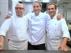 Os três chefs que passaram pelo Cipriani do Copa juntos em jantar: espie