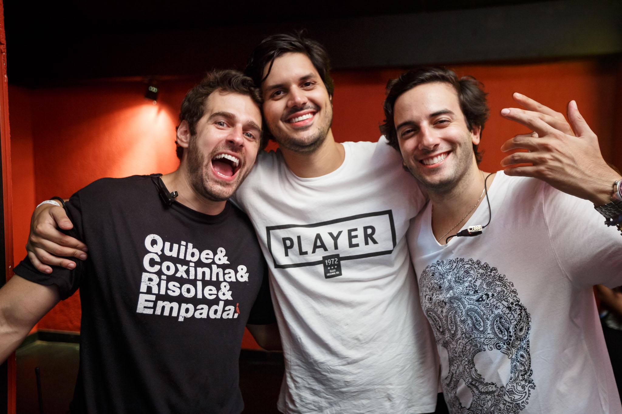 Eduardo Aga, Conrado Denton e Felipe Ramalho