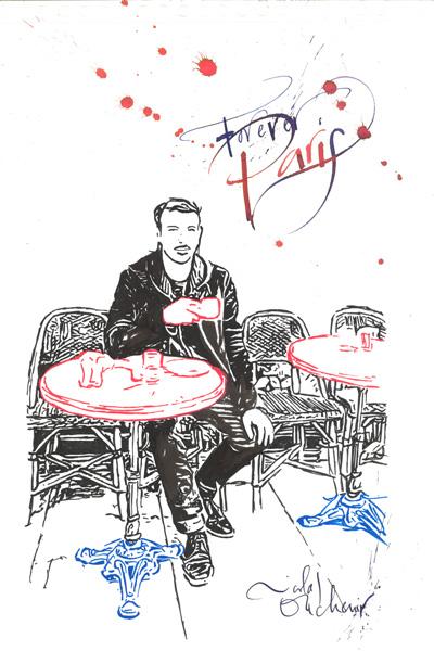"""""""Eu amo Paris porque aqui me sinto livre."""" Nicolas Ouchenir"""
