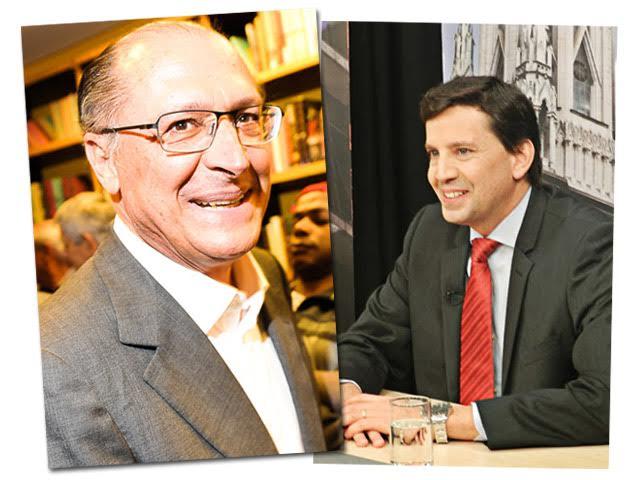 O governador Geraldo Alckmin e o secretário Floriano Pesaro
