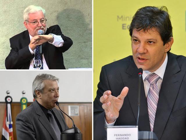 Gilberto Natalini, Covas Neto e Fernando Haddad Reprodução Facebook / Agência Brasil