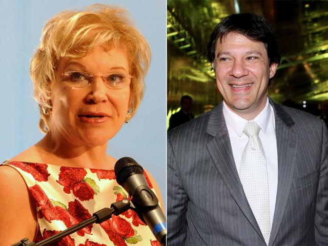 Marta Suplicy e Fernando Haddad aparecem em segundo lugar nas pesquisas para a prefeitura de SP