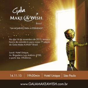 Gala da Make a Wish Brasil acontece neste sábado em SP