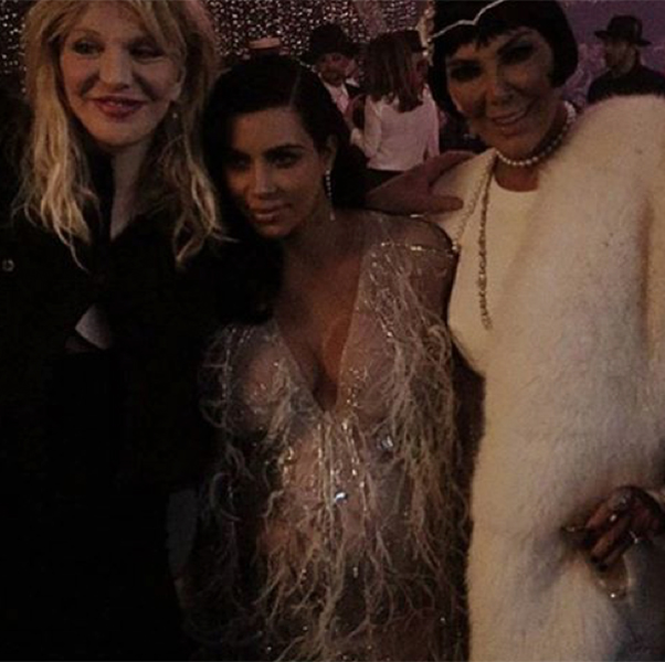 Courtney Love, Kim Kardashian e Kris Jenner