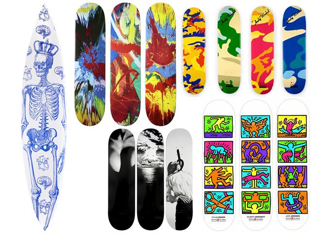 Pranchas e skates em leilão