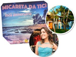 Ticiana Villas Boas arma micareta na Praia do Forte para comemorar aniversário