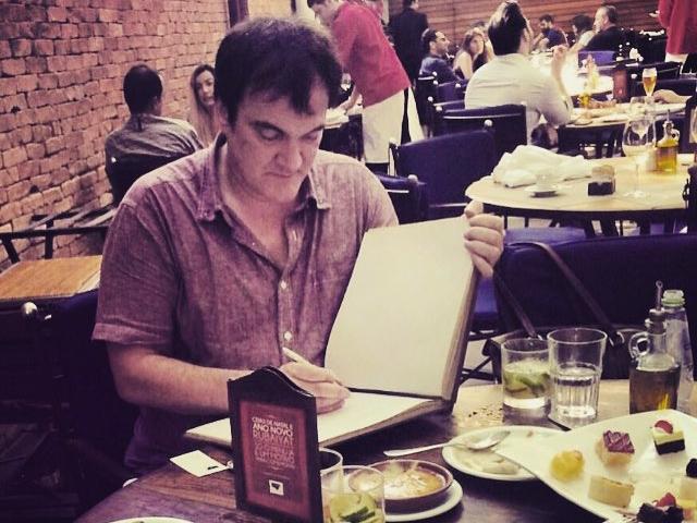 Glamurama viu: Quentin Tarantino no Figueira Rubaiyat do Rio