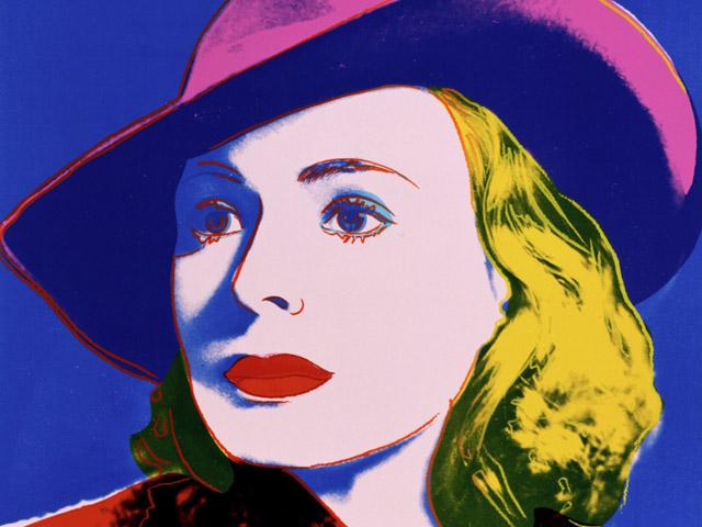 """Obra """"Ingrid Bergman com chapéu"""" de 1983"""