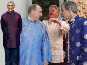 O desfile de trajes típicos dos poderosos nos encontros da APEC