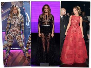 J. Lo troca 10 vezes de look durante premiação de música americana