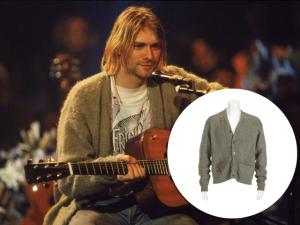 Cardigã de Kurt Cobain vai a leilão com lance mínimo de US$ 20 mil