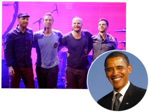 Barack Obama vai cantar no novo álbum do Coldplay. Entenda essa!