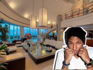 Pharrell Williams coloca mansão à venda pela terceira vez. Espia só!