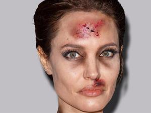 Artista modifica fotos de beldades para alertar sobre violência contra a mulher