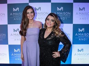 Camila Queiroz e Preta Gil fervem no aniversário da A Maison