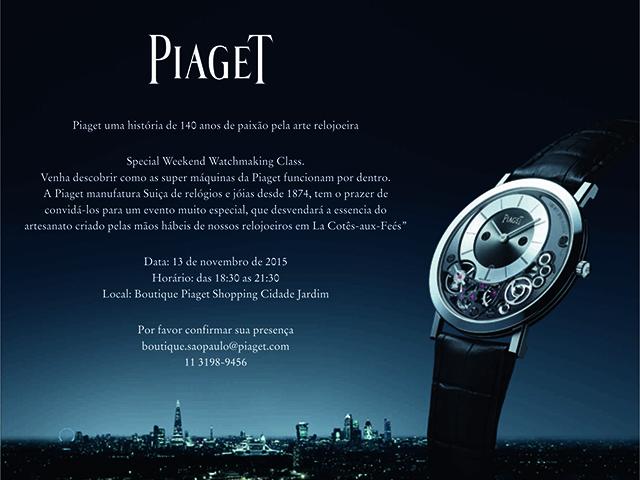 007054933d2 Piaget arma evento especial no shopping Cidade Jardim. Vem saber ...