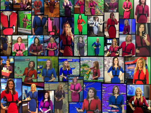 Apresentadoras do tempo de vários telejornais vão ao ar com o mesmo vestido