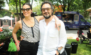 Jack Vartanian e Cassia Avila pilotam tarde divertida nos Jardins