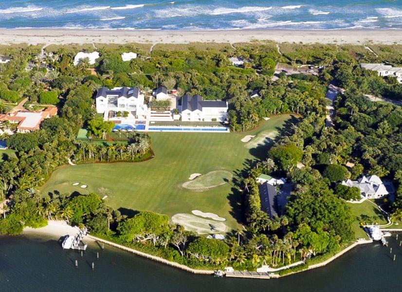 O golfista Tiger Woods tem uma mansão avaliada em US$ 60 milhões em Jupiter Island, na Flórida