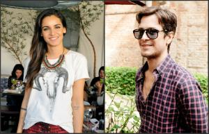 Renata Vanzetto e Raphael Falci armam happy hour de fim de ano