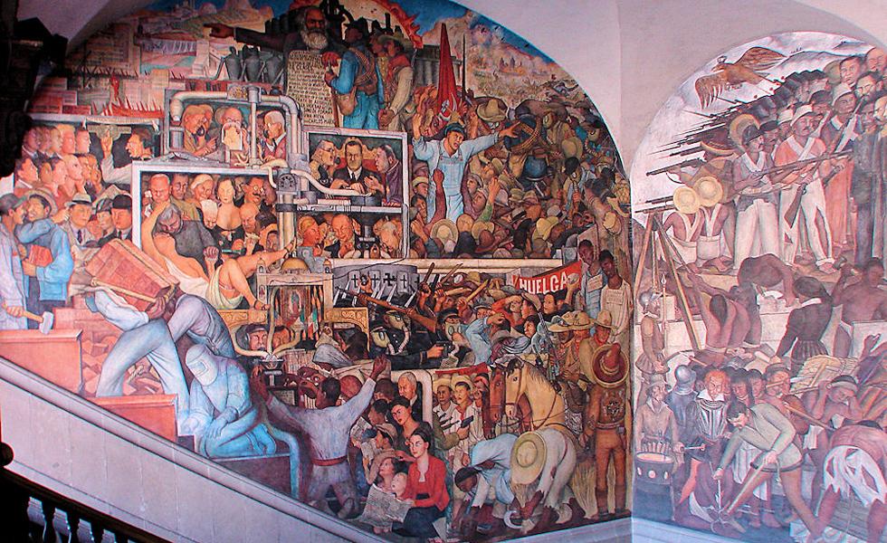 Mem ria no anivers rio de diego rivera 10 de seus for Diego rivera mural 1929