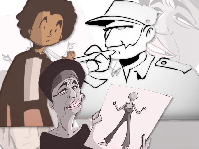 As animações são trechos de entrevistas que personalidades deram ao longo de sua carreira