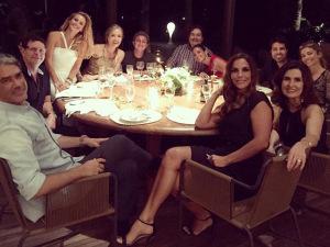 De Angélica a William Bonner: turma de globais se reúne para jantar estrelado