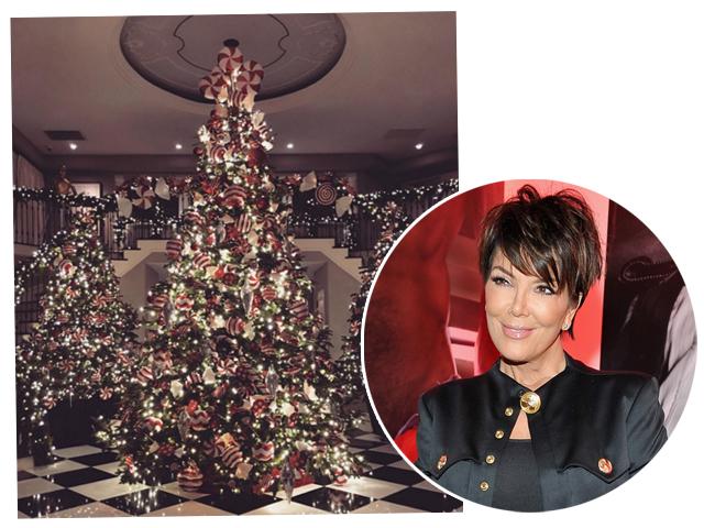 Kris Jenner e suas três árvores de Natal