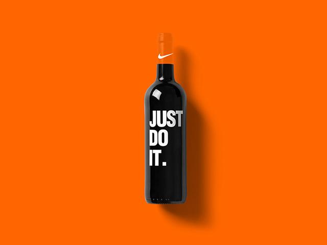 O possivel rótulo de vinho da Nike