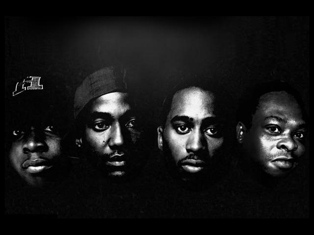 O quarteto que forma o A Tribe Called Quest