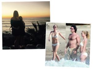 Gwyneth Paltrow e o namorado Brad Falchuk em raro flagra no México