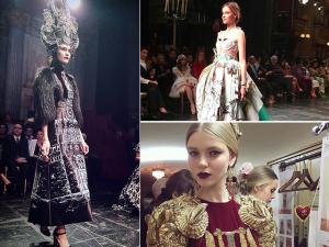 Dolce & Gabbana bebe de fonte lírica para desfile de Alta Moda 2016