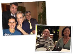 Marco Antonio de Biaggi: encontro entre amigos para brindar a vida