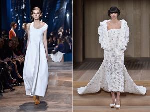 Em Paris, minimalismo e comprimento mídi surgem como apostas para noivas