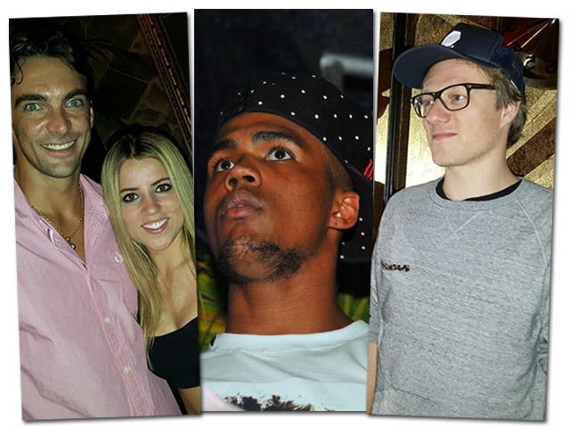 Giba, Letícia Bufoni, Douglas Costa e o DJ francês WatermätCréditos: Robson Rodrigues e Cassiano de Souza / Divulgação