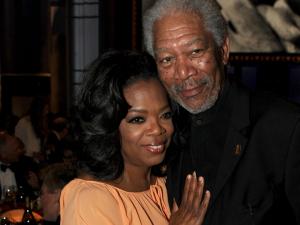Academiaquer Oprah e Morgan Freeman na cerimônia do Oscar