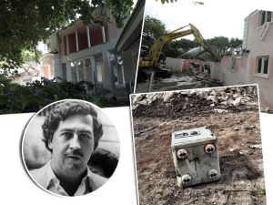 Depois da demolição, cofre secreto é achado na mansão de Escobar