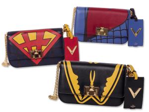 Valentino cria bolsas inspiradas nos super-heróis dos quadrinhos