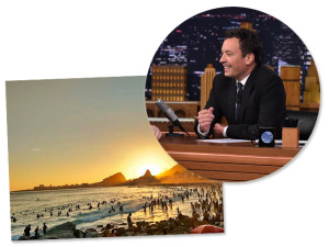 Programa de Jimmy Fallon: ao vivo do Leme durante as Olimpíadas do Rio