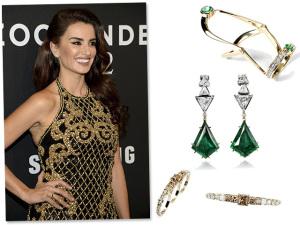 Penélope Cruz usa joias de designer brasileiro em première