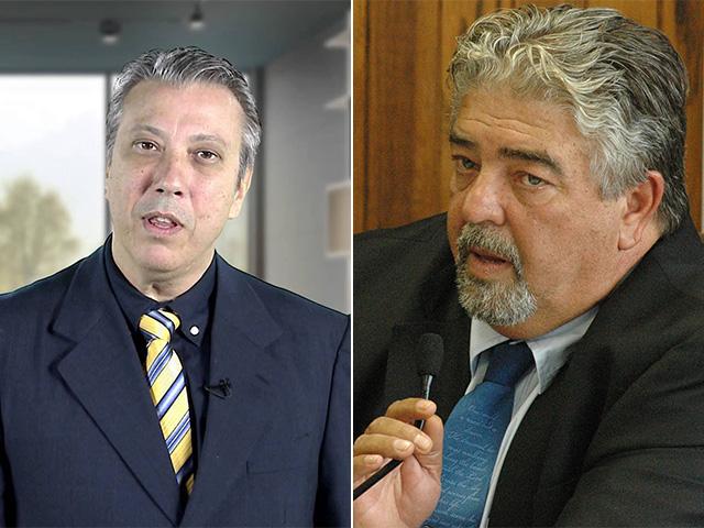 Covas Neto (esq) diz que PSDB só apura denúncia de Adolfo Quintas (dir) se houver fato concreto Divulgação/Reprodução youtube