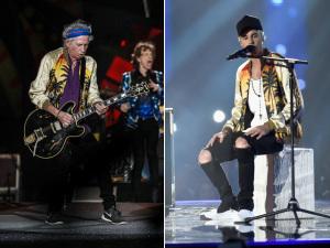 Keith Richards e Justin Bieber dividindo o guarda-roupa? Entenda