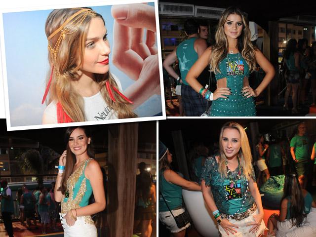 Isabella Santoni, Thassia Naves, Lethicia Bronstein e Camila Queiroz: desfile de estilo no Camarote Salvador
