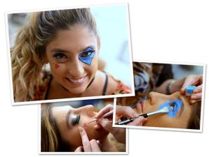 Lu D'Angelo e maquiagem colombina para roubar a cena no Carnaval