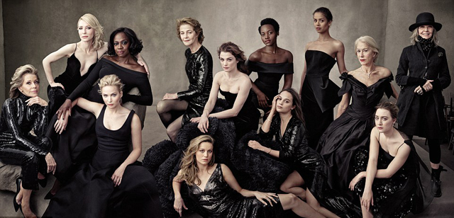 Vanity Fair: Jane Fonda, Cate Blanchett, Viola Davis, Jennifer Lawrence, Charlotte Rampling, Brie Larsen, Rachel Weisz, Lupita Nyong'o, Alicia Vikander, Gugu Mbatha-Raw, Helen Mirren, Saoirse Ronan e Diane Keaton